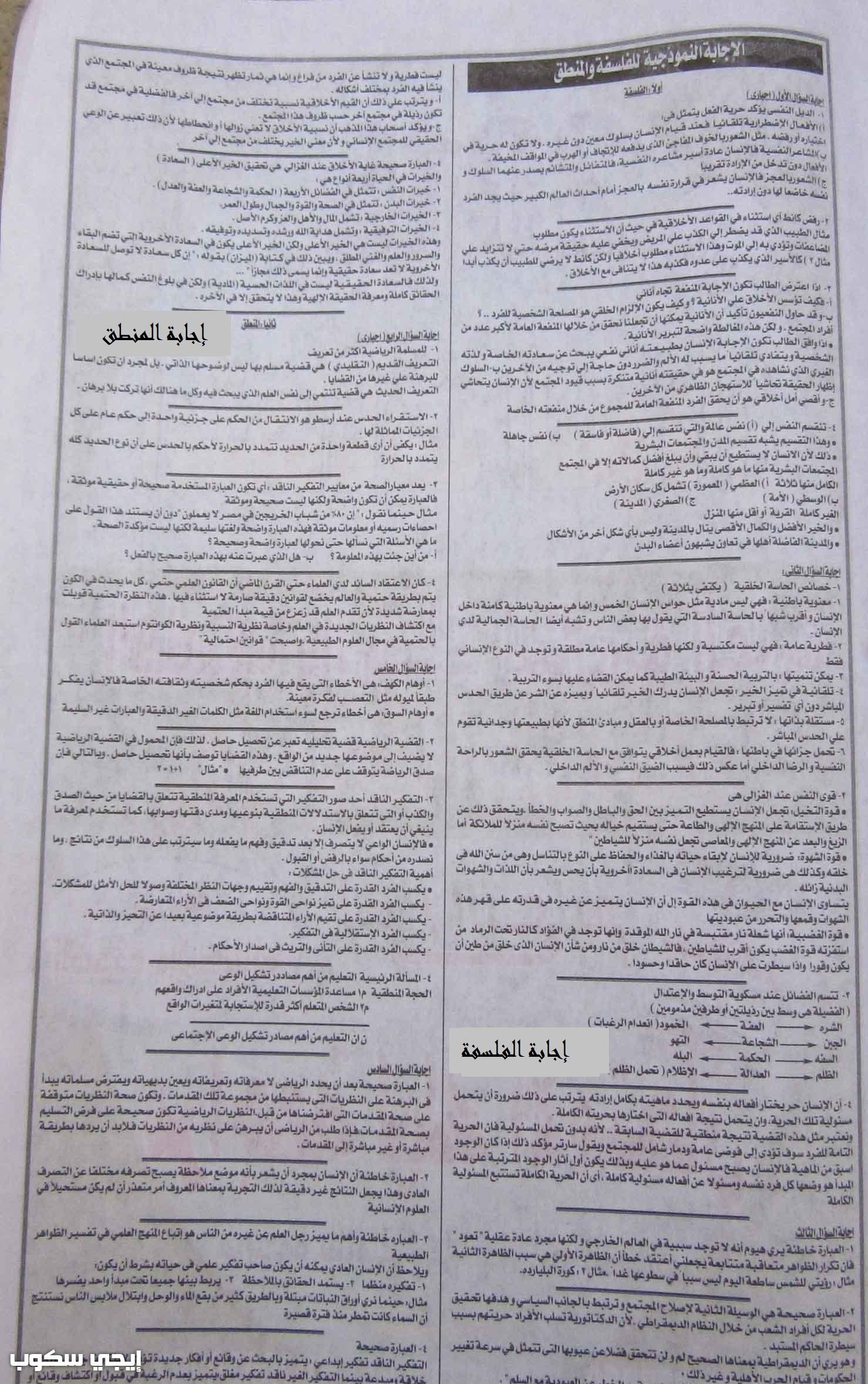 نماذج امتحانات السودان 2017 للثانوية