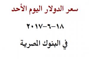 سعر الدولار اليوم الأحد 18-6-2017 واستمرار استقرار سعر العملة في البنوك المصرية