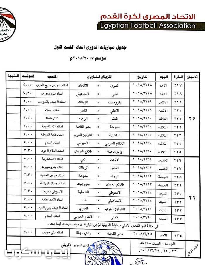 جدول مباريات الدوري السعودي لكرة القدم